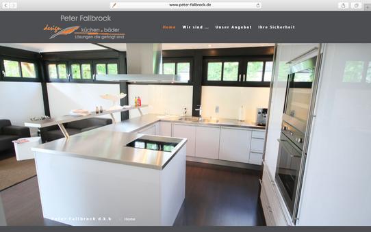 """WebPräsenz """"Peter Fallbrock design . küchen . bäder"""""""
