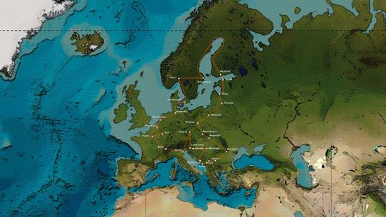 Carte du parcours de Cyril