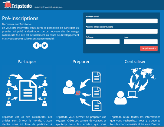 Capture du site Tripstodo