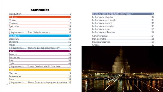 Sommaire du Guide : Londres l'Essentiel, Editions Nomades