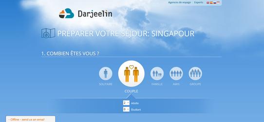 Site Web Darjeelin - Ils préparent pour vous votre séjour !