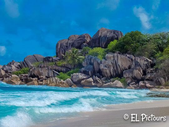 Grand Anse, La Digue, Seychellen