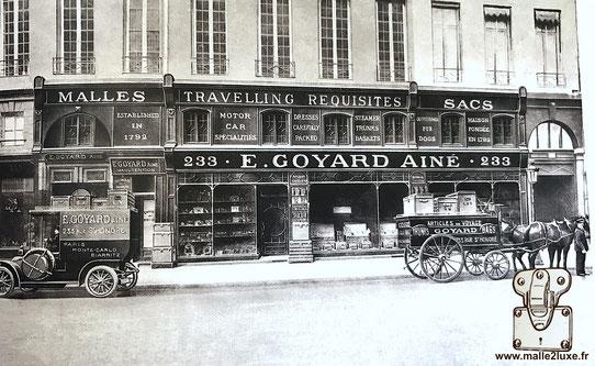 ancienne boutique de malle francois goyard 347 puis 233 rue saint honoré