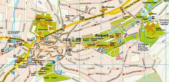 Stadtplan und Parkplätze Bad Orb