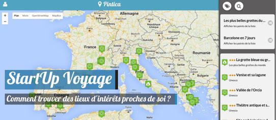 Startup Voyage - Pintica - Géolocaliser des lieux d'intérêts !