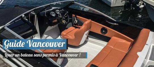 Guide Vancouver - Louer un bateau sans permis dans la baie de Vancouver
