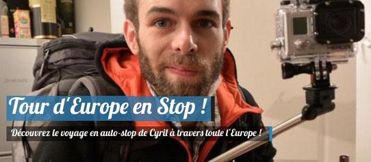 Cyril Plou, Voyage en Europe en Auto-Stop