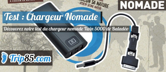 Test Baladeo Chargeur Nomade Twin 5000