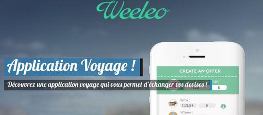 Weeleo : Application voyage qui permet d'échanger vos devises