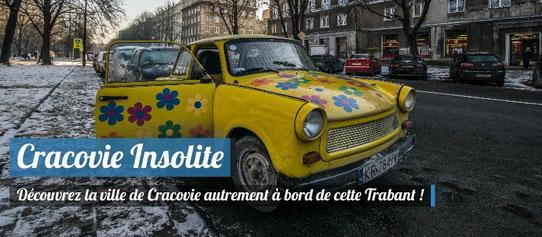 Visite insolite de Cracovie à bord d'une Trabant