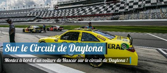 Tour de piste sur le circuit de Daytona en voiture de Nascar