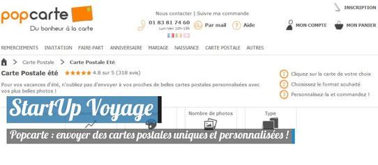 Startup Voyage Popcarte