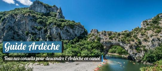Guide Ardèche - Descente en canoë en Ardèche