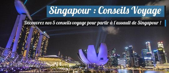 Vue sur Singapour de Nuit !