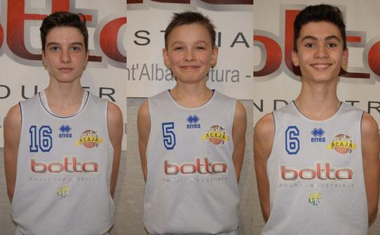 Da sx: Nicolò Reynaudo, Tommaso Curti e Leonardo Delsoglio