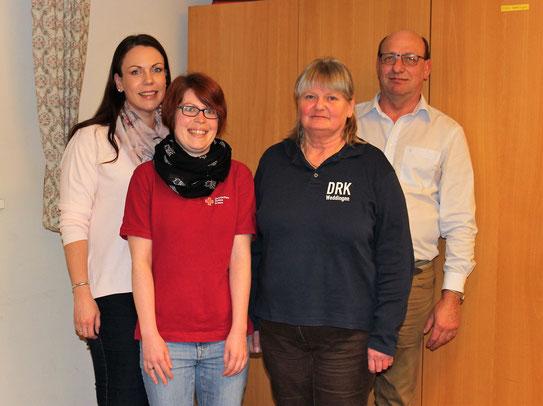 v.l. Schriftführerin Stefanie Pfaff, 2. Vorsitzende Linda Künne, 1. Vorsitzende Marita Brandes-Schaaf, Rechnungsführer Leo Becke