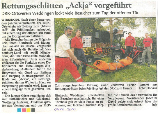 """neuer Rettungsschlitten """"Ackja"""" 04. Juni 2010"""