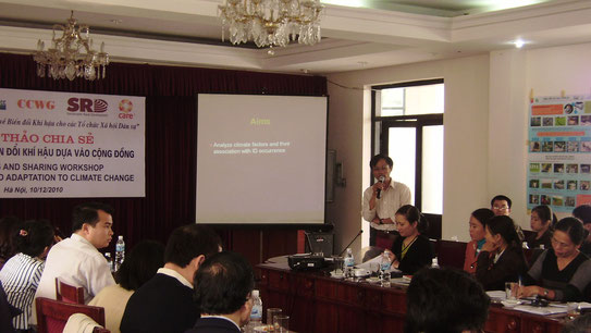 Community Based Adaptation to Climate change Workshop in Hanoi, 2010