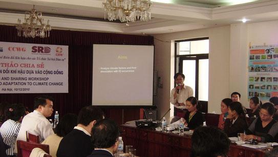 Community Based Adaptation to Climate change Workshop in Hanoi, 2010