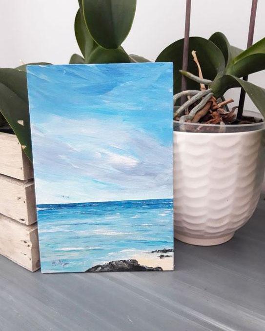 mini-peinture-paysage-marin-plage-petit-tableau-mer-ocean-royan-audrey-chal