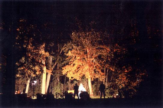 Theater des hölzernen Gelächters im Amphitheater des Englischen Gartens, München, 2003, Foto: PL
