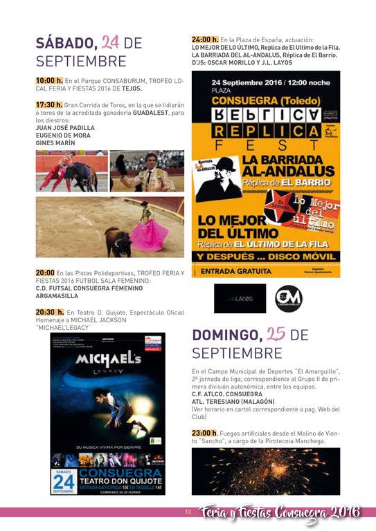 Feria y Fiestas de Consuegra Programa