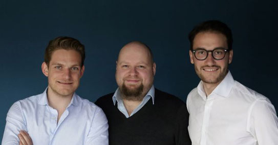 Founded cargo.one in 2017 (left to right): Oliver Neumann, Mike Roetgers, Moritz Claussen  -  photo: cargo.one