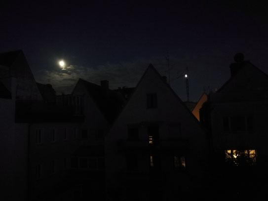 Mond über Augsburg