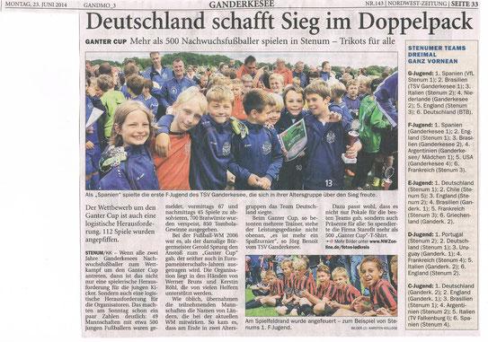 Ganter-Cup-Sieger 1.E-Jugend des VfL Stenum