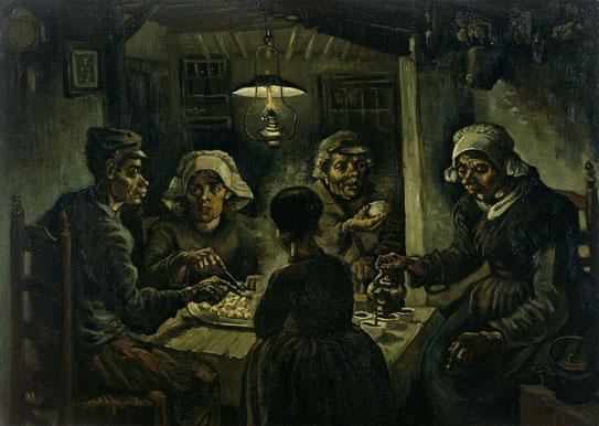 Едоки картофеля - самые известные картины Ван Гога