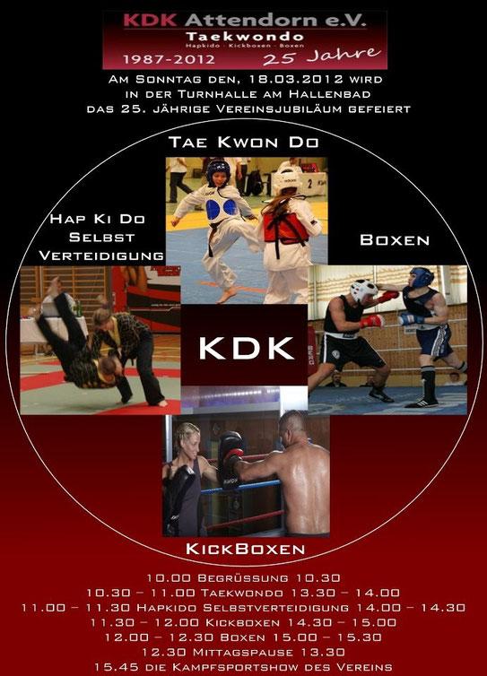 Das Plakat 25 Jahre KDK Attendorn
