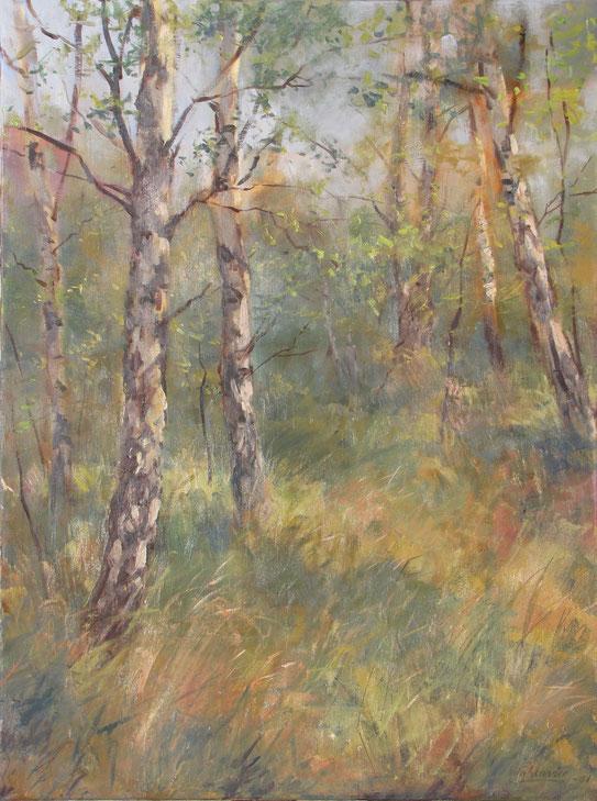 Tony Wahlander (Wåhlander) Le rêve en forêt de ois de bouleaux