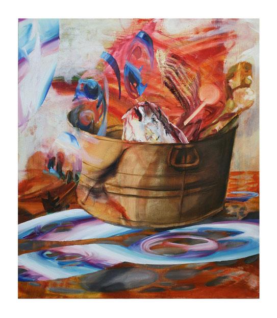 Belohnungs Eimer-          -Oil on canvas-    -2011-     -80x80cm