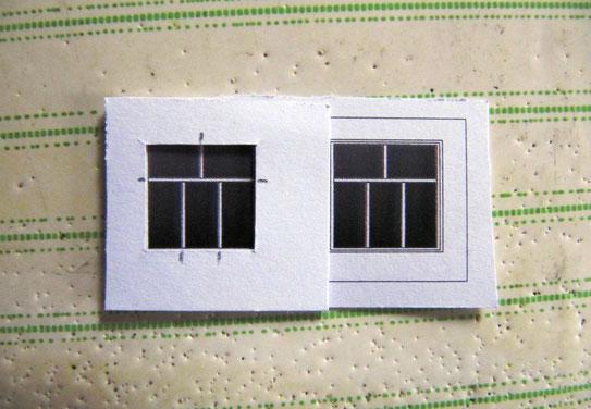 (c) W. Fehse - ... ein Teil unter das andere legen, mit einem Bleistift die Klebepunkte für die Sprossen markieren