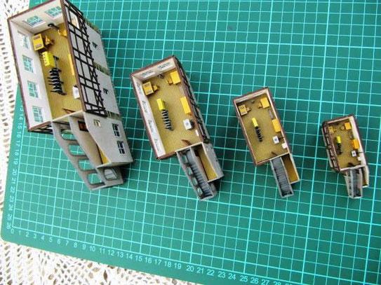 (c) W. Fehse - Baukörper mit angeleimten Treppenaufgangssektionen