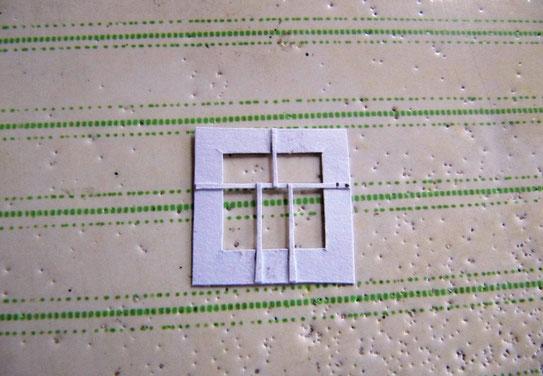 (c) W. Fehse - Fertig ausgeschnittenes Fenster Rückseite