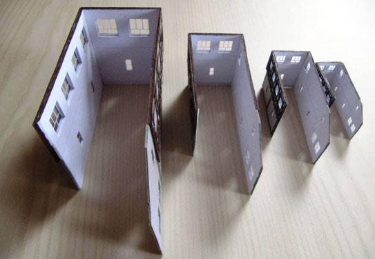 (c) W. Fehse - Noch offene Treppengiebelseite des Stellwerkes in H0, TT, N und Z