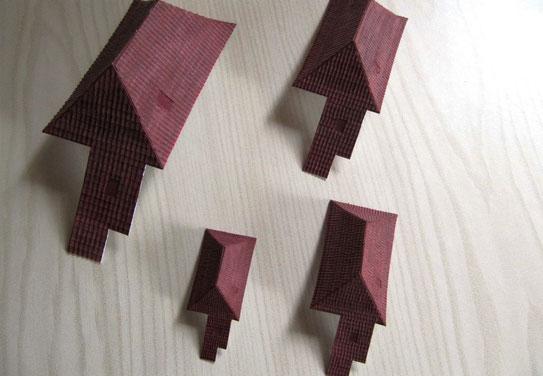 (c) W. Fehse - Zusammengeleimten Dachhaut-Teile