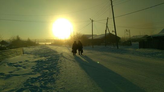 По дороге в Харыйалахскую школу