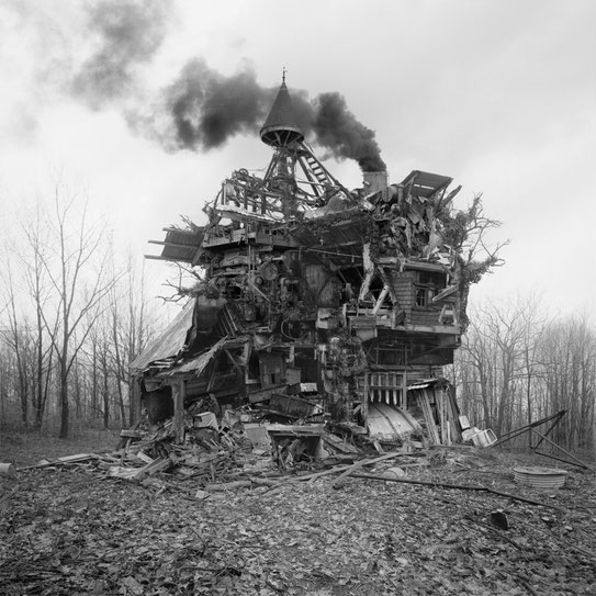 Jim Kazanjian photomontage surrealism black and white affordable folly