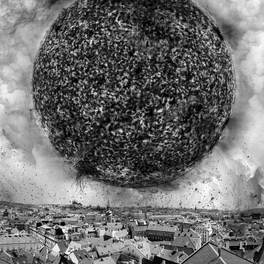 Jim Kazanjian photomontage surrealism black and white affordable sun