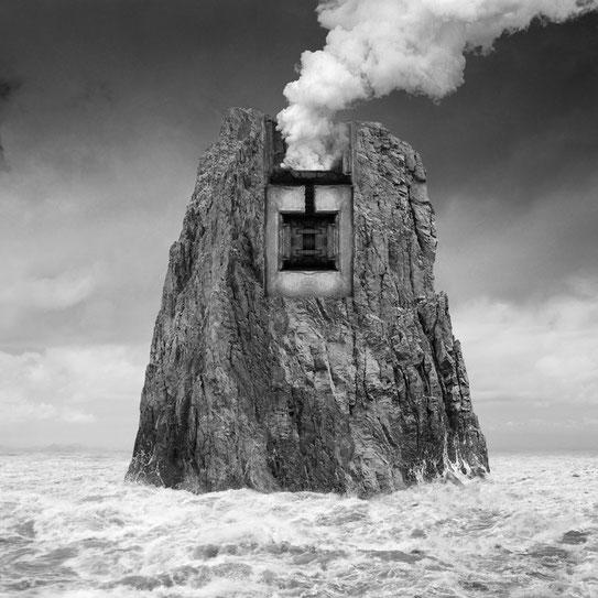 Jim Kazanjian photomontage surrealism black and white affordable fotification