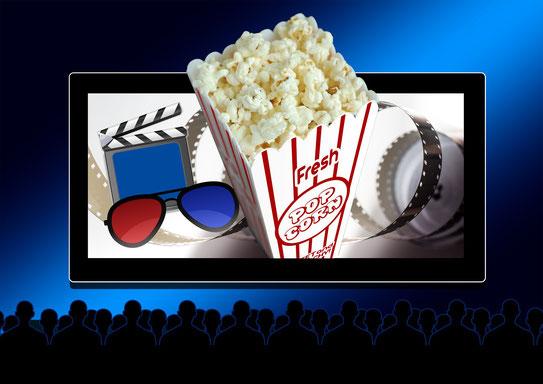 Entspanne dich und iss etwas Popcorn!