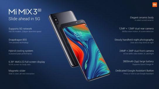 Xiaomi Mi Mix 3 5G - Características y precio en España
