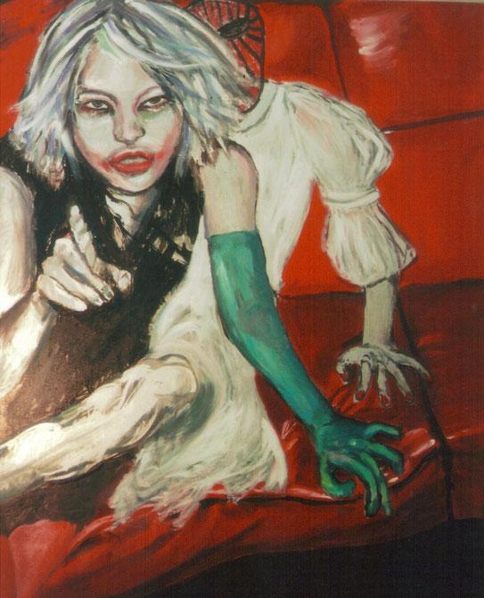 Pass op, huile sur toile,130x120 cm, collection de l'auteur