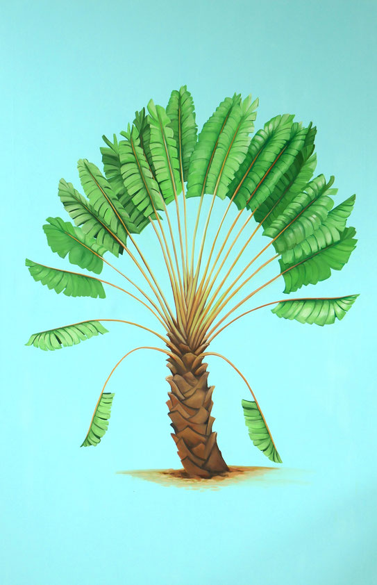 Palm trees Part I, 2014, Öl auf Nessel, 200 x 130 cm