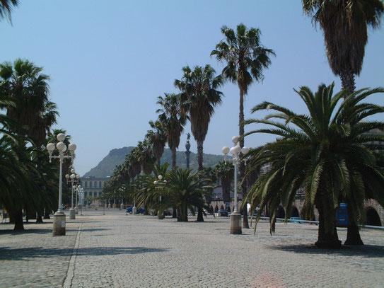 De tropisch aandoende promenade richting de moderne jachthaven. Altijd goed voor een ontspannen wandeling langs het water.