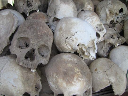 Het Choeung Ek museum en de daarom heen liggende 'Killing Fields' geven een indrukwekkend beeld van Paul Pot's Rode Khmer schrikbewind dat Cambodja vier jaar lang heeft gedomineerd.