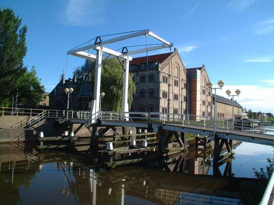 Uitzicht op De Blokhuispoort. Het huis van bewaring in Leeuwarden. Een inrichting met een lange historie..........
