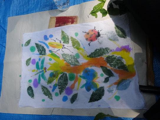 藍の葉とテントウムシ by SAVAさん